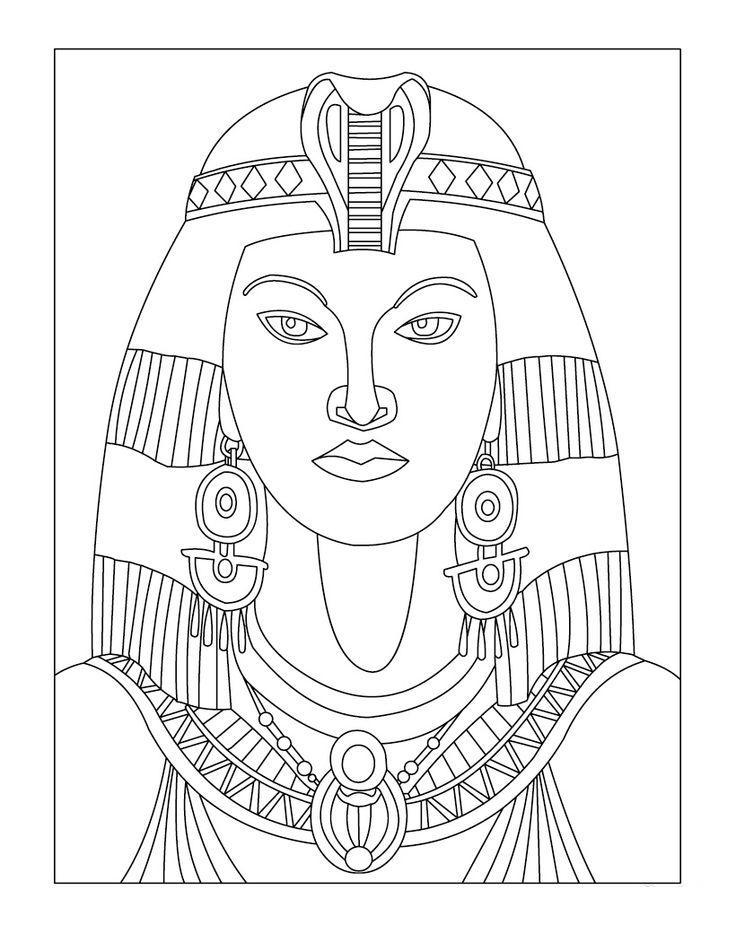 Древний мир, египтянка Раскраски для мальчиков бесплатно