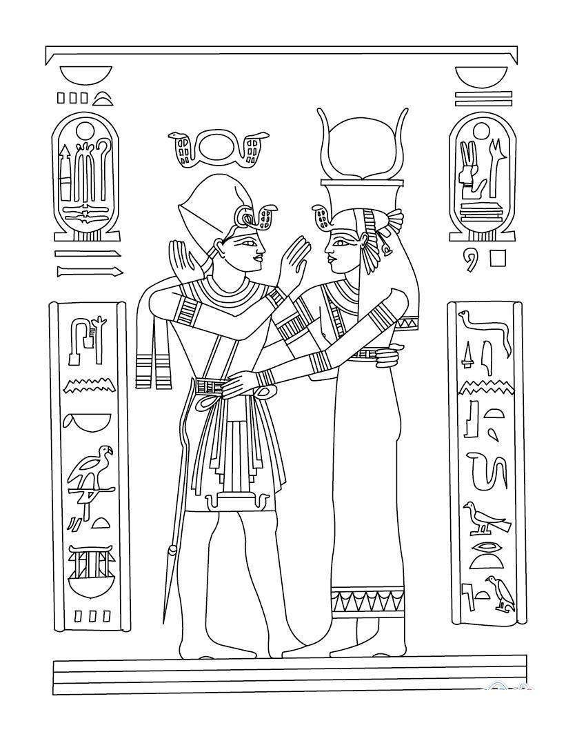 Древний мир, письменность египта, боги, божества Раскраски для мальчиков бесплатно