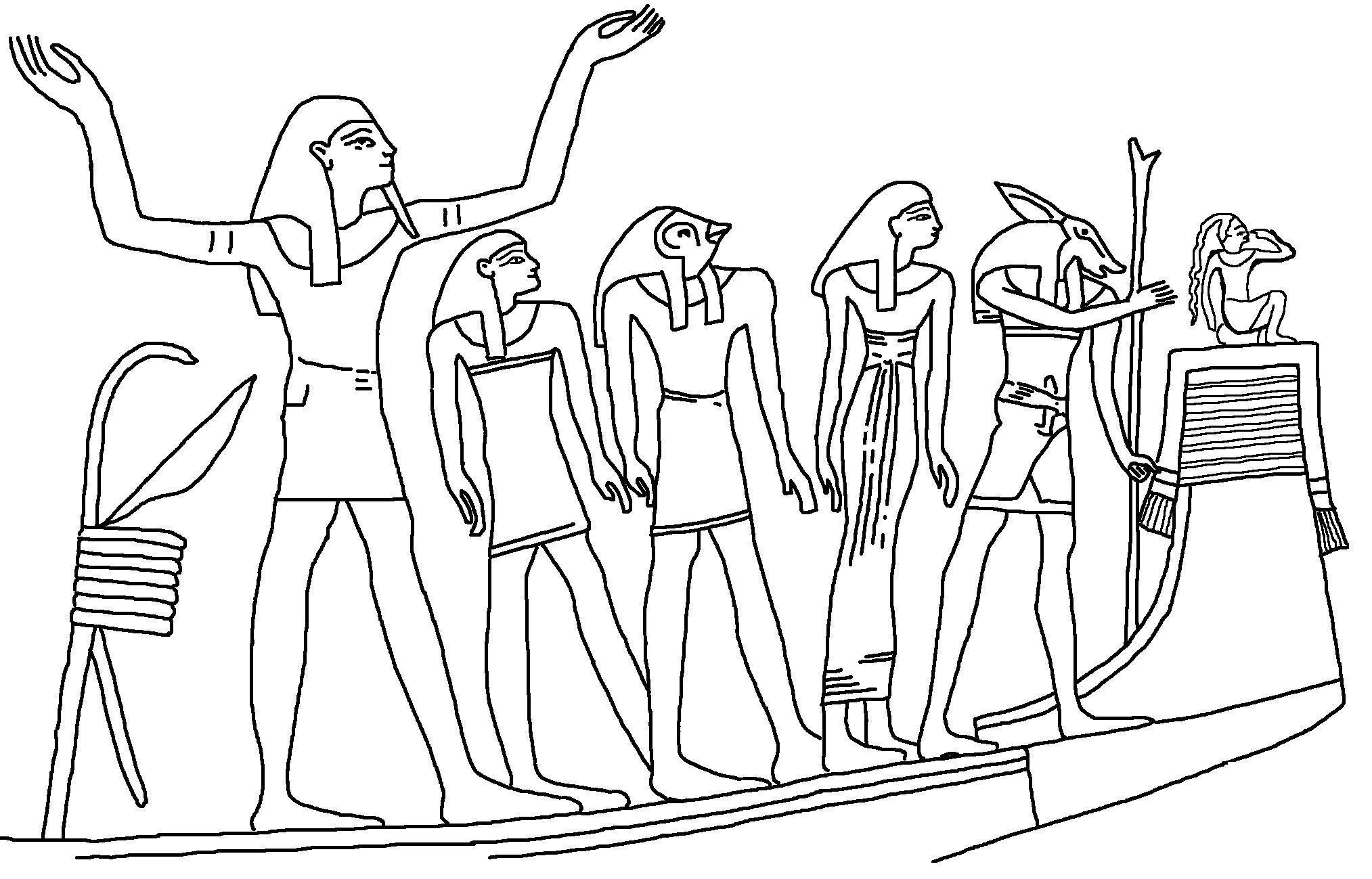 Древний мир, египет, рамзес Раскраски для мальчиков бесплатно