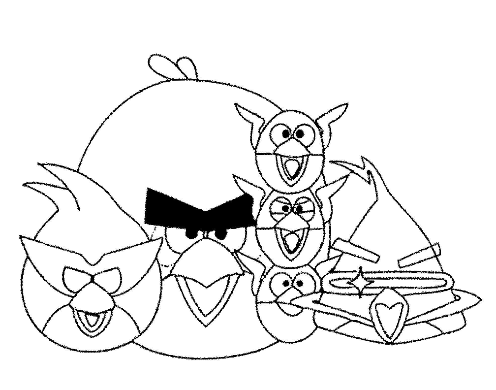 Angry birds злые птички, семейка птичек Раскраски для детей мальчиков