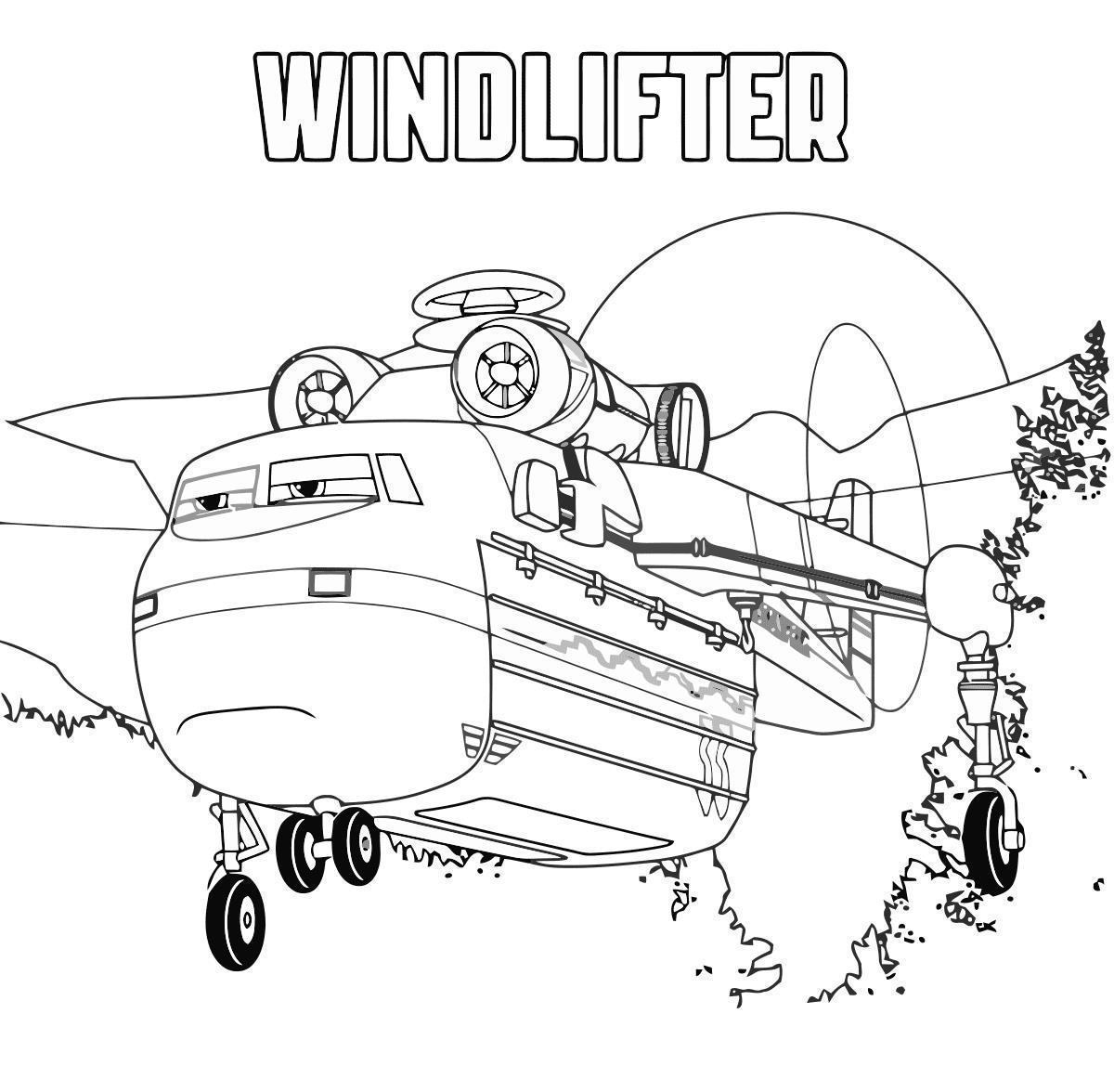 самолеты дисней виндлфтер из мультфильма скачать раскраски