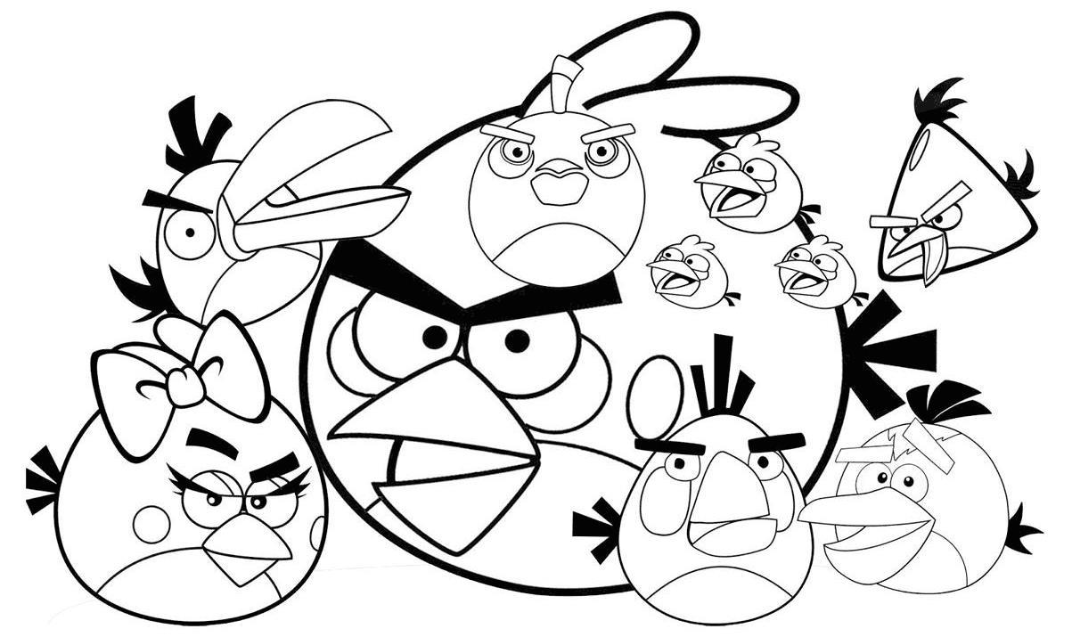 Компания злых птичек Раскраски для детей мальчиков