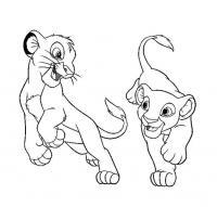 Львята играют Раскраски для мальчиков бесплатно