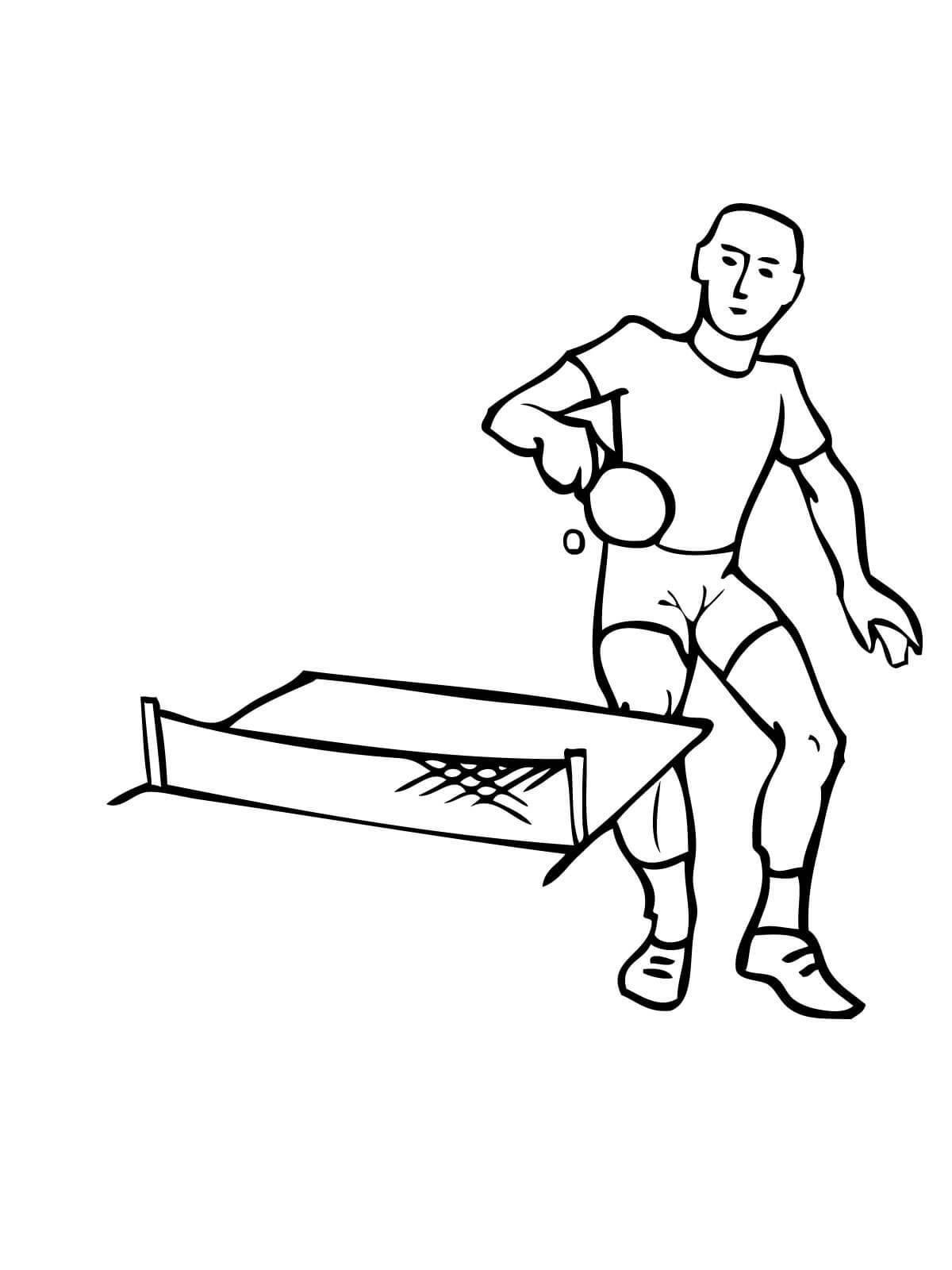 Настольный теннис, стол, ракетка Раскраски для мальчиков