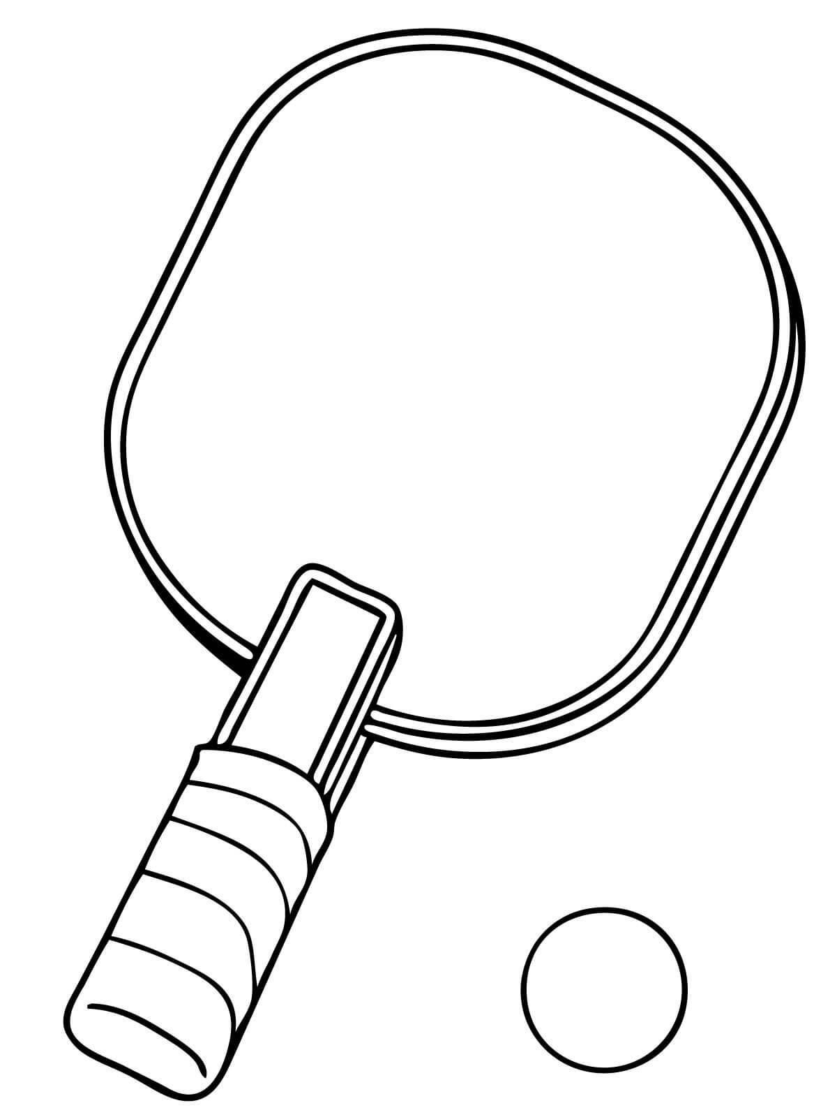 Квадратная ракетка для тенниса и шарик, мячик Раскраски для мальчиков