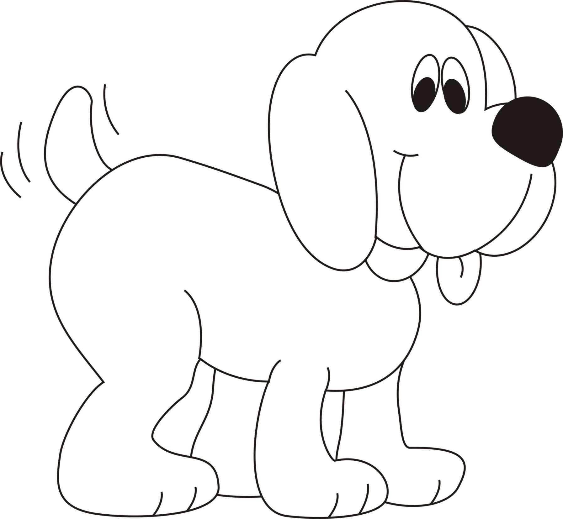 Собака виляет хвостом, собака высунула язык, собака с ...