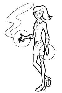 Девушка с необычной силой в руках Распечатать раскраски для мальчиков