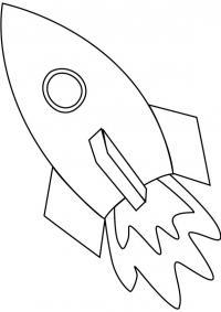 Ракета с круглым эллюминатором Раскраски для мальчиков