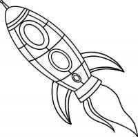 Ракета с тремя эллюминаторами Раскраски для мальчиков