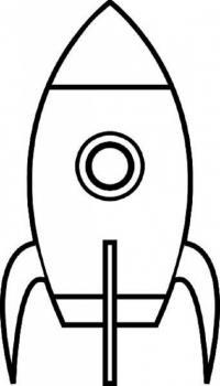 Простая ракета Раскраски для мальчиков