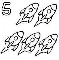 Пять ракет Раскраски для мальчиков