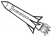 Ракета с квадратными окошками, летящая ракета Раскраски для мальчиков