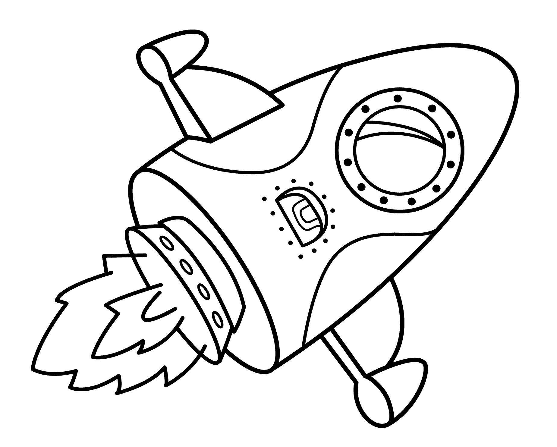 Летящая ракета Раскраски для мальчиков