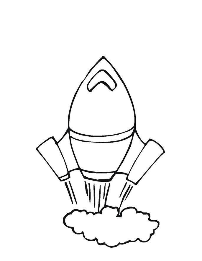 Ракета взлетает, дым Раскраски для мальчиков