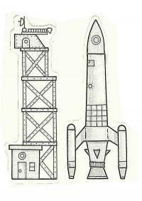 Ракета и аэродром Раскраски для мальчиков