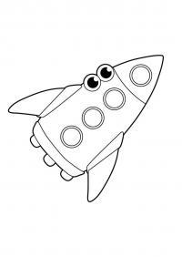 Ракета с глазами Раскраски для мальчиков