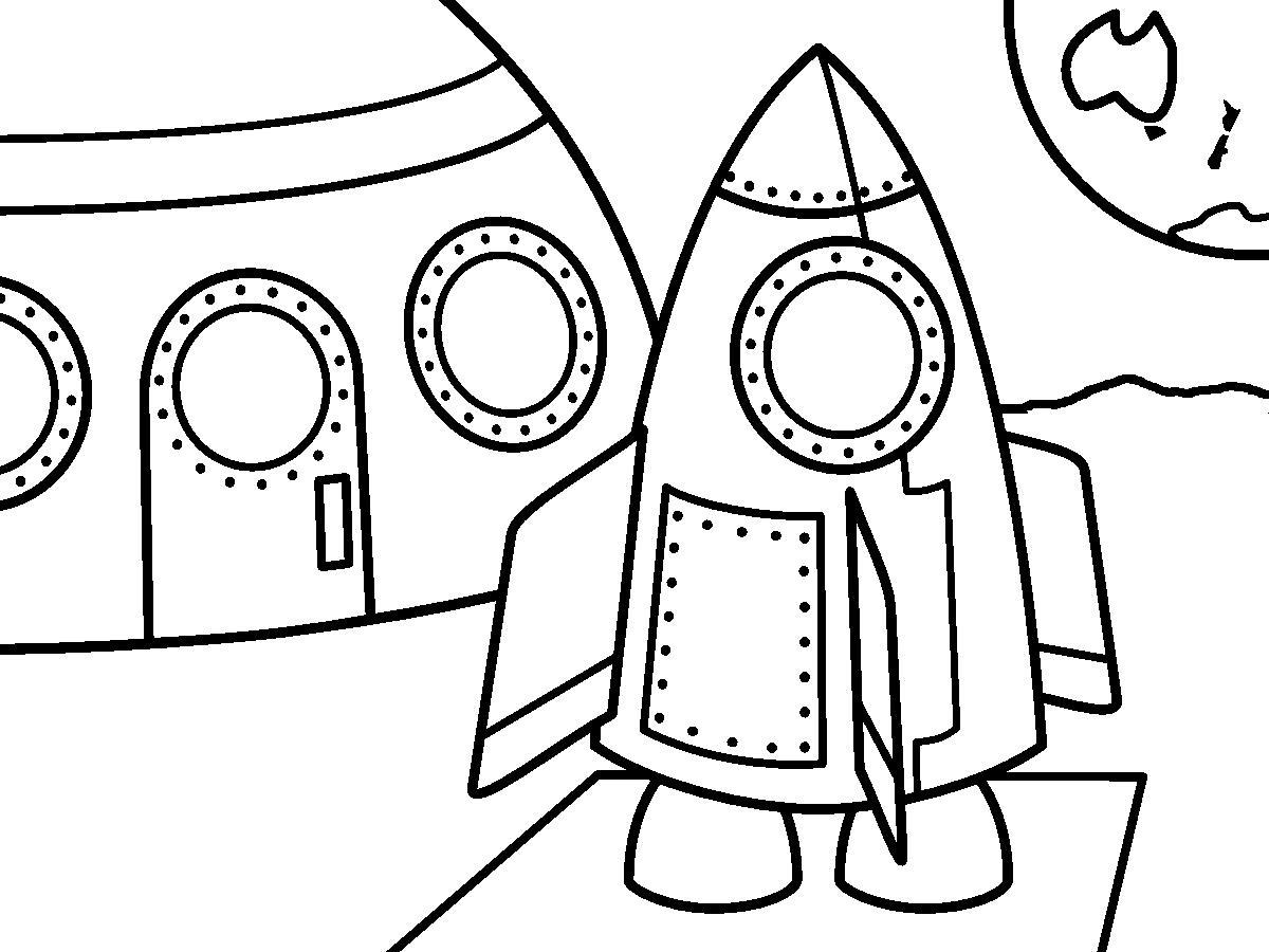 Космос, ракеты Распечатать раскраски для мальчиков