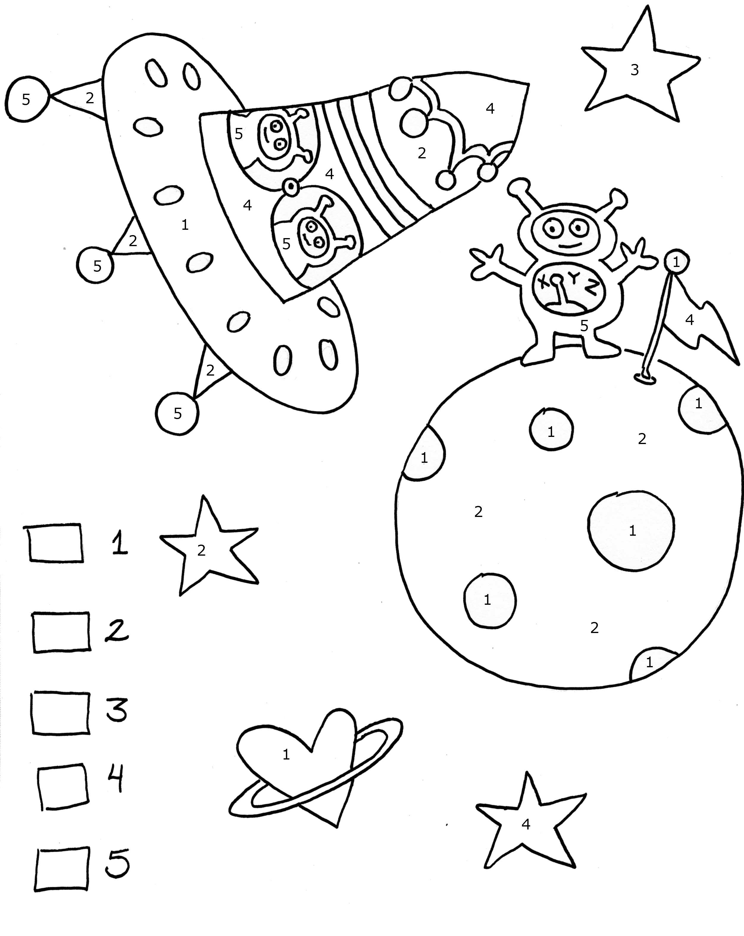 Инопланетяне в ракете и на планете Распечатать раскраски для мальчиков