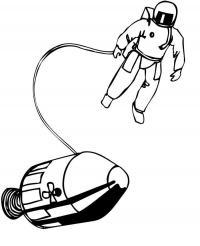 Космонавт и ракета Раскраски для мальчиков