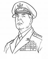 Война, японский генерал Раскраски для детей мальчиков