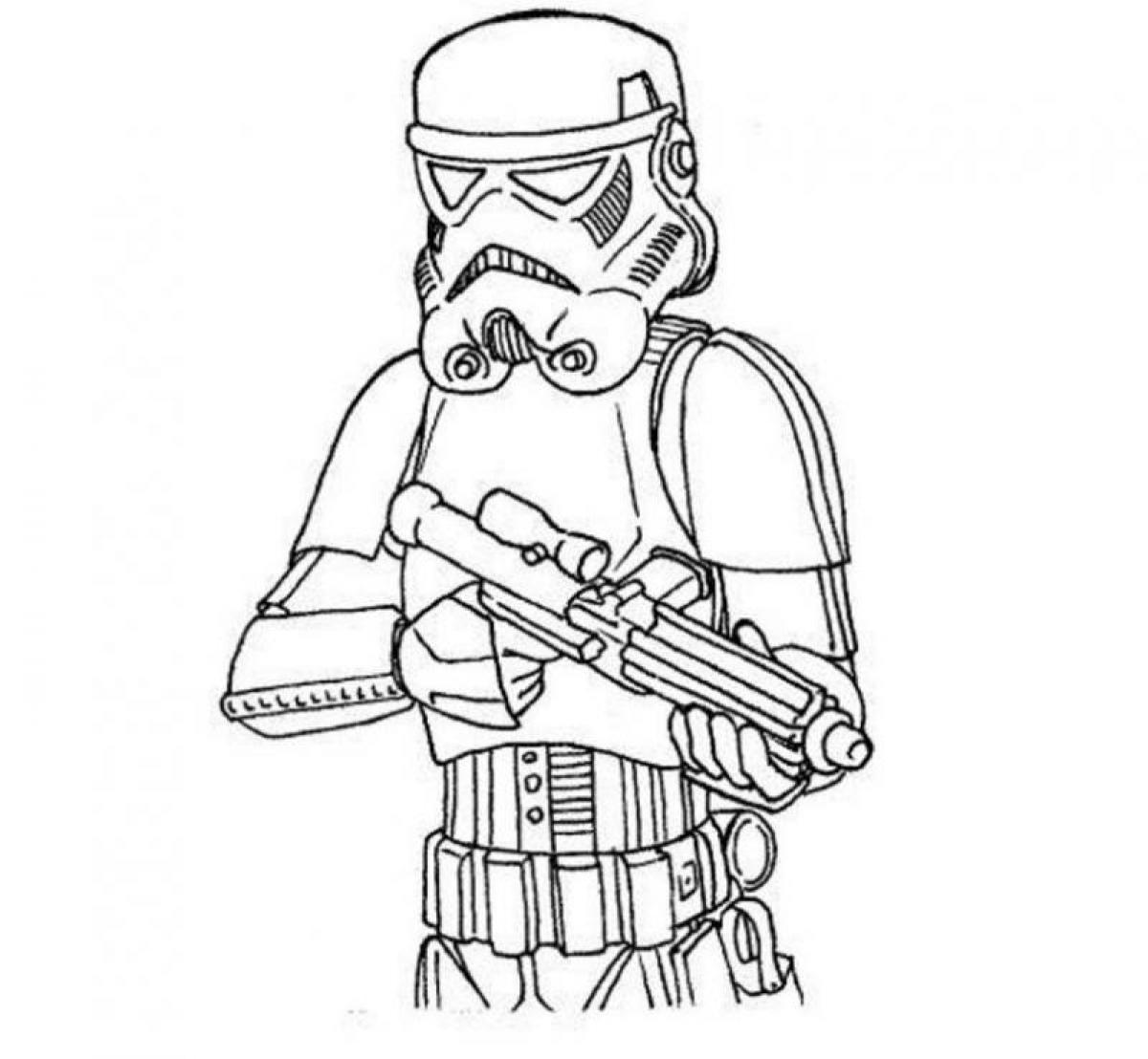 Персонаж из фильма звездные войны Раскраски для мальчиков бесплатно