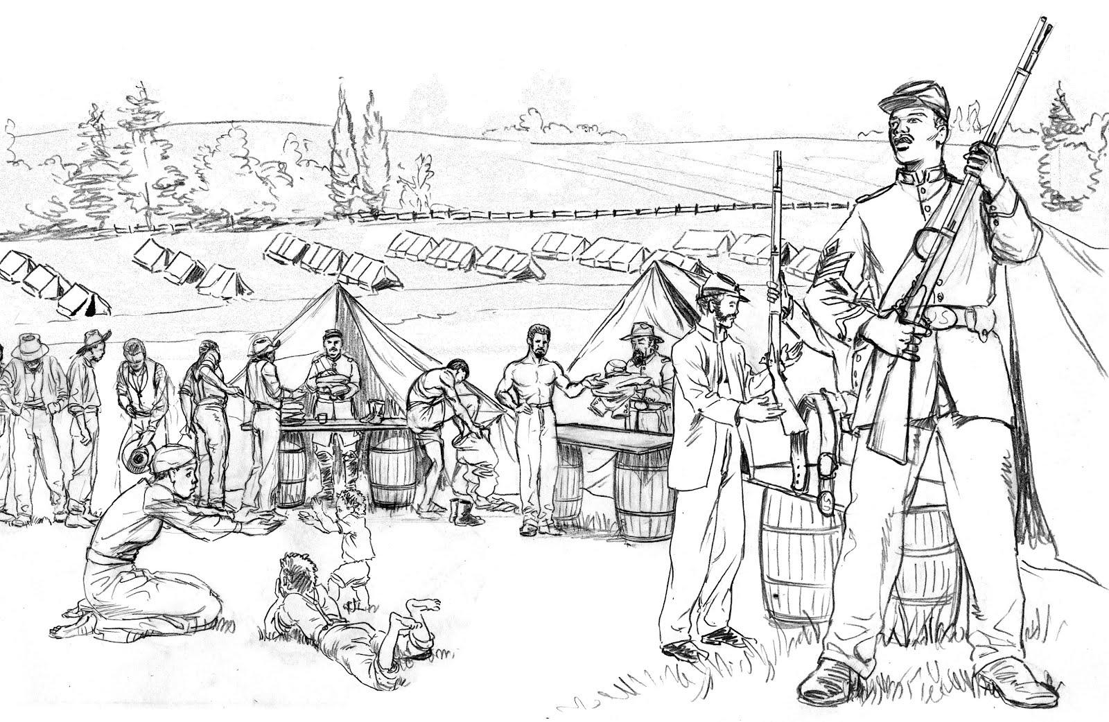 Солдаты на отдыхе Раскраски для детей мальчиков