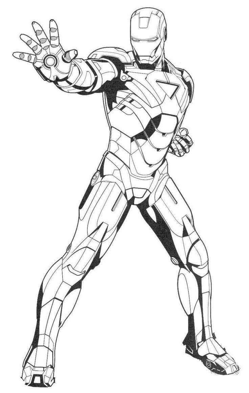 Железный человек вытянувший руку Раскраски для мальчиков