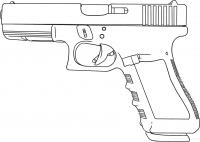 Пистолет Раскраски для мальчиков