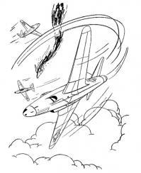Виражи самолетов, война Раскраски для детей мальчиков