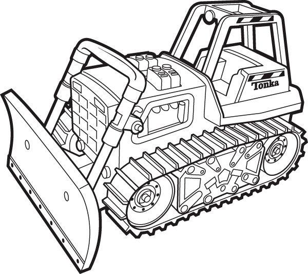 Гусеничный трактор Раскраски для мальчиков