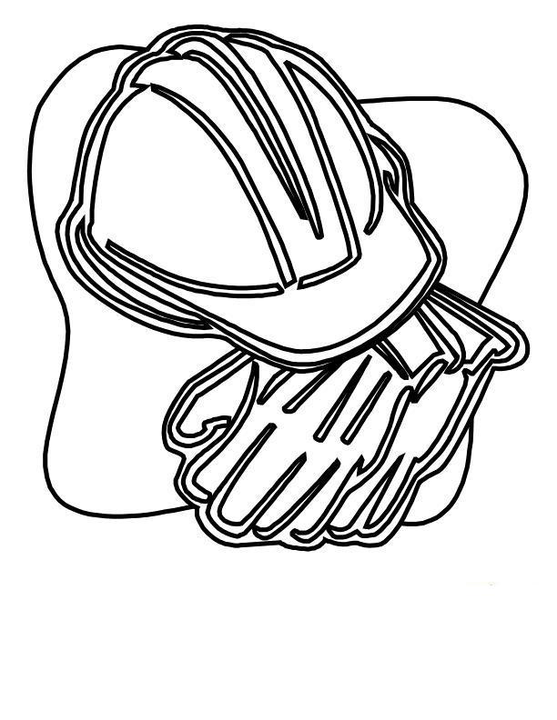 Каска и перчатки Раскраски для мальчиков