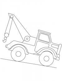 Машина, подъемник Раскраски для мальчиков