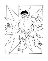 Супергерои, суперсила Распечатать раскраски для мальчиков