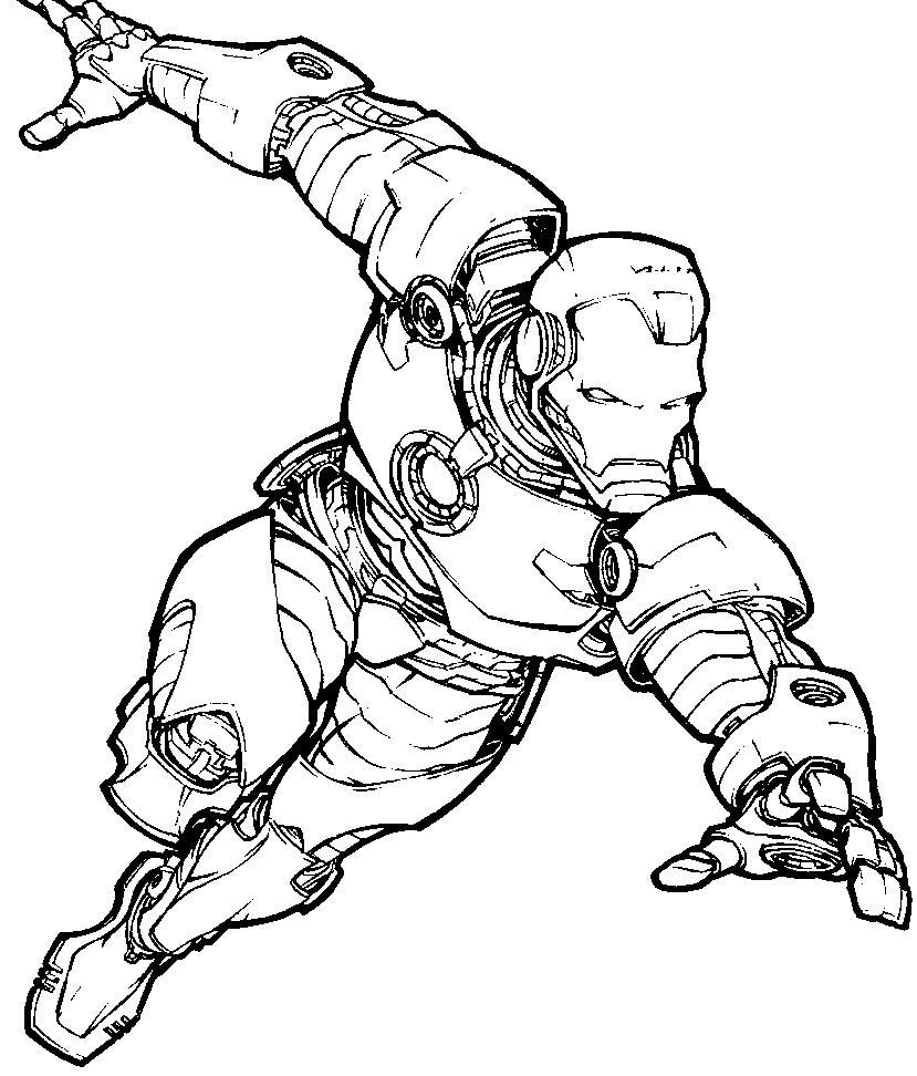Железный человек летит Раскраски для мальчиков