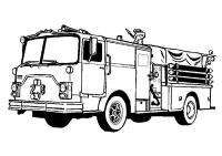 Пожарная машина Раскраски для мальчиков
