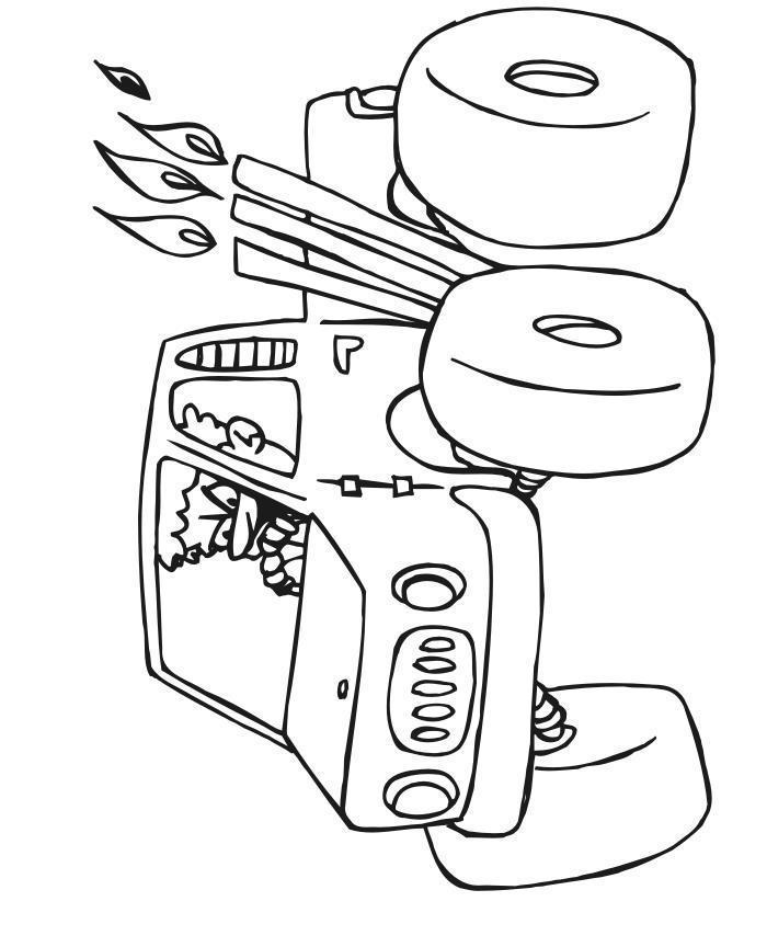 Грузовик бигфут с водителем Раскраски для мальчиков