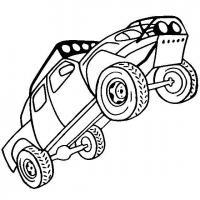 Грузовик стоит на задних колесах Раскраски для мальчиков