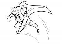 Мальчик супергерой Распечатать раскраски для мальчиков