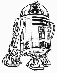 Робот помощник, звездные войны Раскраски для мальчиков бесплатно