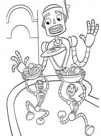 Роботы официанты Раскраски для детей мальчиков