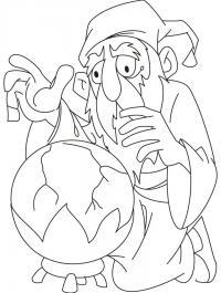 Шар и колдун Раскраски для детей мальчиков