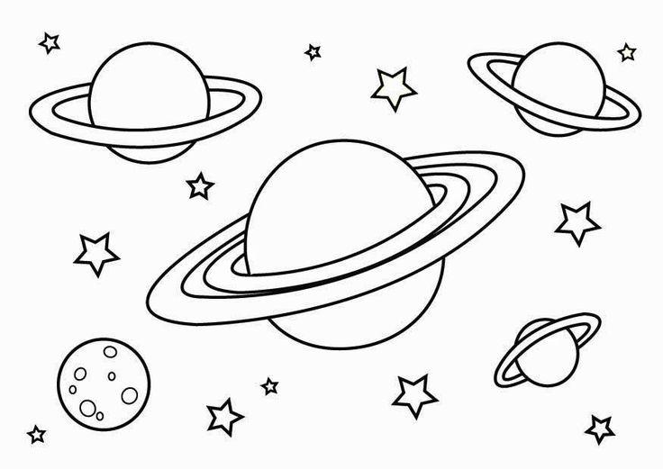 Планеты в космосе Распечатать раскраски для мальчиков