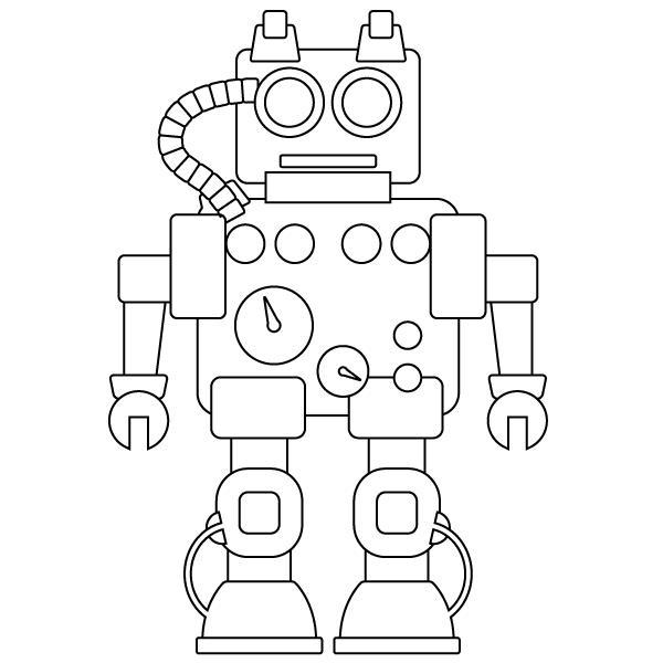 Робот с измерителями Раскраски для детей мальчиков