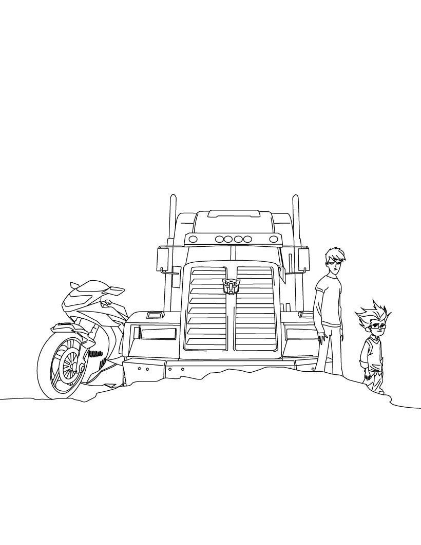 Трансформеры, персонажи мультфильма Раскраски для мальчиков