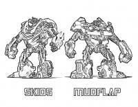 Трансформеры скидс и мудфлап Раскраски для мальчиков