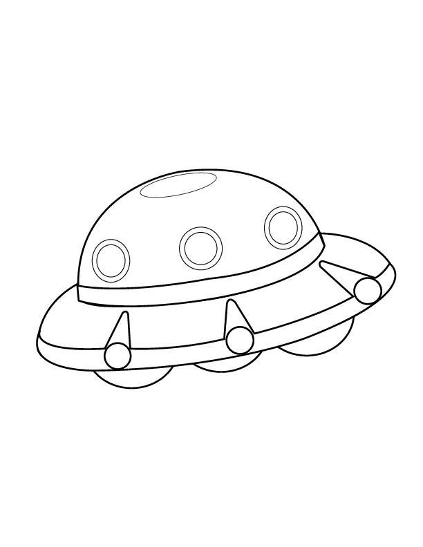 Нло, космическая тарелка Раскраски для мальчиков