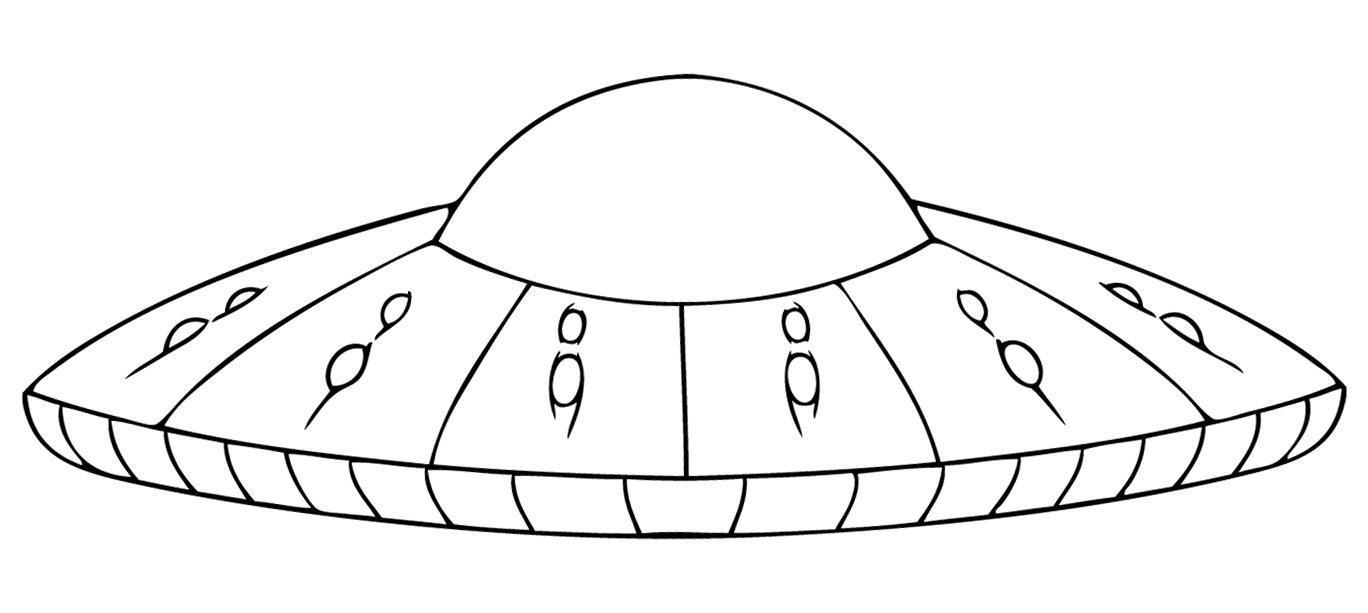 Космическая тарелка, космический корабль Раскраски для мальчиков