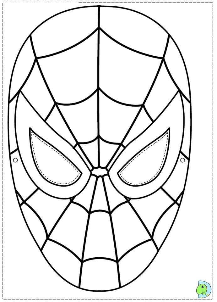 Маска человека паука для вырезания Распечатать раскраски ...