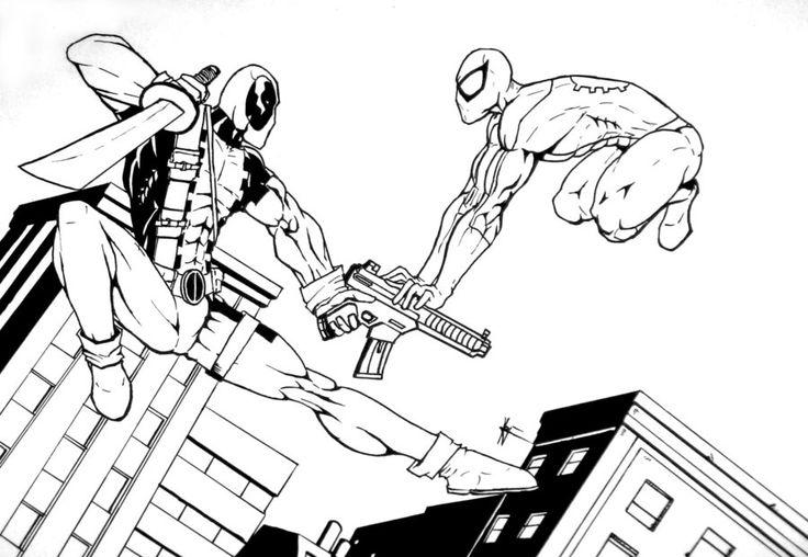 Человек паук сражается Раскраски для мальчиков