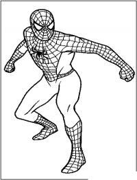 Человек паук готов сражаться Раскраски для мальчиков